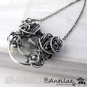 antilae pereti - kwarc mistyczny, srebro, kwarc, naszyjnik