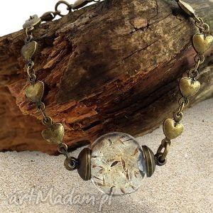 hand made bransoletki dmuchawiec - bransoletka z prawdziwymi nasionami