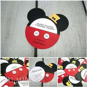 myszka mickey - minnie, miki, urodziny, myszka, zaproszenie, roczek