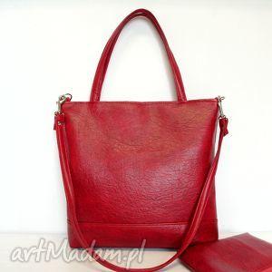 prezent na święta, shopper bag, klasyczna, modna, czerwona, trendy, szyta, musthave