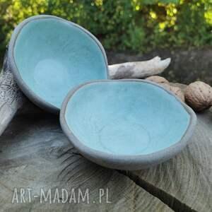 komplet ceramicznych miseczek c353, miseczki, ceramika, ważki, kamionkowe