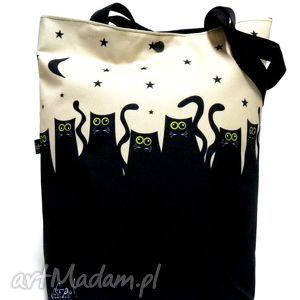 Torba na napę z kotami ramię gaul designs torba, koty,