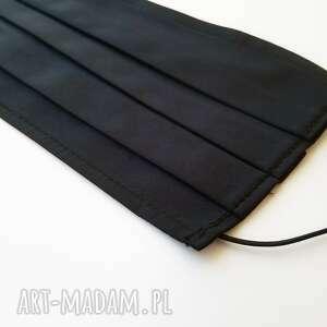 maseczki czarna bawełniana maska maseczka wielorazowa 5 szt