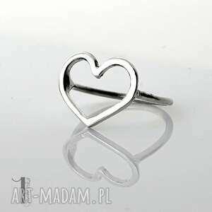 lovestory i - srebrny pierścionek serce - pierścionek srebrny