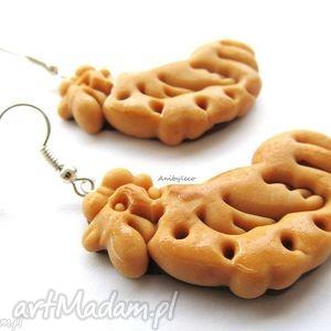 oryginalny prezent, anibyleco kolczyki ciasteczka, kolczyki, modelin, masa, fimo