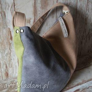 hand-made na ramię torebka hobo - pastele jesień