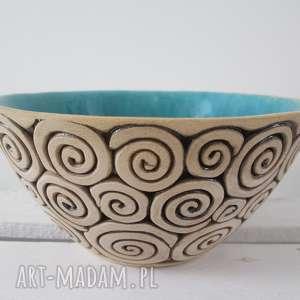 Prezent turkusowa miseczka ceramiczna, miska-ceramiczna, turkusowa-miska