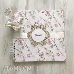 Prezent Album - kwiaty jabłoni prezent na urodziny, komunię, ślub, album, komunia