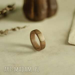 obrączki prosta drewniana obrączka, męska obrączka