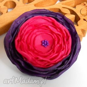 kwiatuszek - broszka - kwiat, broszka, elegancka, biżuteria, rękodzieło