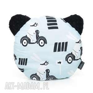 hand made dla dziecka poduszka podusia miś królik na skuterze / czarny