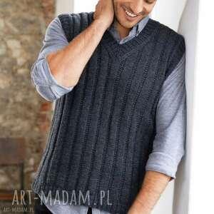 Kamizelka trento swetry b a o l kamizelka, wełniana, męska