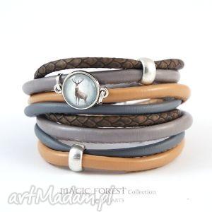bransoletki bransoletka - jeleń 3 rzemienie, owijana, bransoletka, owijana