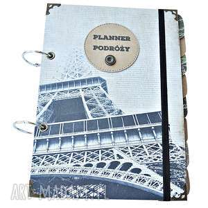 Prezent Pamiętnik Podróży, prezent dla Podróżniczki, Paryż, planner-podróży