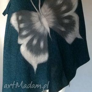 ręcznie wykonane szaliki filcowany szal