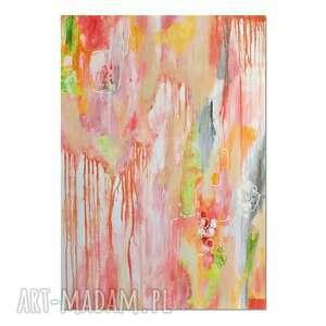 pastello 2, abstrakcja, nowoczesny obraz ręcznie malowany, obraz