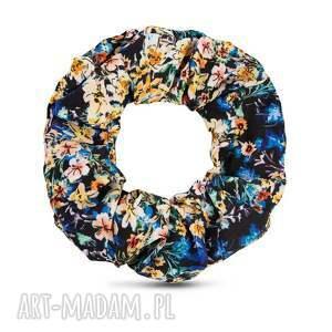livia clue gumka/scrunchie annika, gumka do włosów, scrunchie, w kwiaty