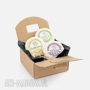 zestaw trzech wosków w pudełku/ naturalne woski zapachowe, sojowe, olejki