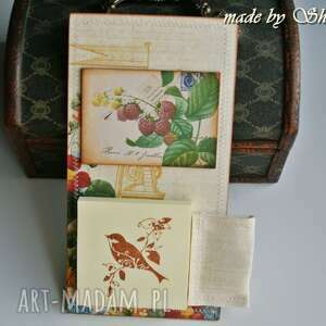 scrapbooking notesy notes na lodówkę - letni ogród, notes, lodówkę, magnes, notatnik