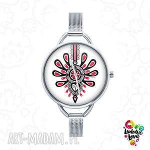 Zegarek z grafiką PARZENICA, góralskie, folk, etniczne, zakopane, miłość, symbol