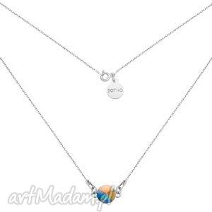srebrny naszyjnik z opalizujĄcym krysztaŁem swarovski crystal - modny, kobiecy