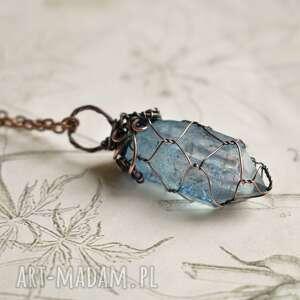 naszyjniki blue/gray net - naszyjnik z wisiorem na łańcuszku