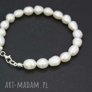 bransoletka perły naturalne, bransoletka, perły, słodkowodne