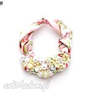 pastelove naszyjnik handmade, naszyjnik, kolorowy, pastelowy, róż, różowy