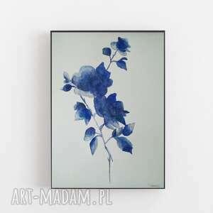 abstrakcja-kwiaty-akwarela formatu a4, akwarela, abstrakcja, farby, kwiaty