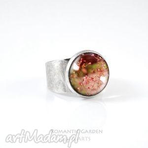 Prezent Pierścionek - Lato kolor srebrny, pierścionek, obrączka, kwiaty, kwiat
