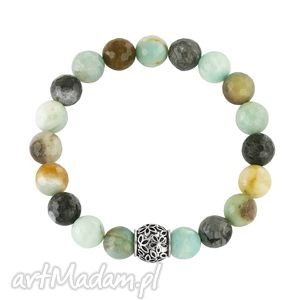 earth energy - amazonite, amazonit, bransoletka, koralik