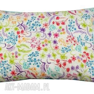 poduszka rajski ogrÓd - poduszka, poducha, jasiek, minky, kwiaty, prezent
