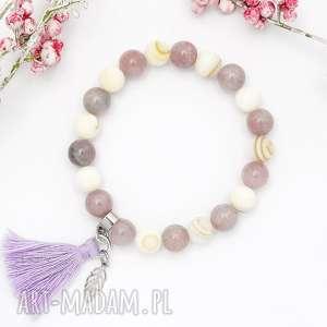 bransoletka z kamieni naturalnych - nature pearl and jade, bransoletka, minerały