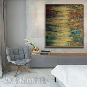 Prezent Obraz do Salonu - bogato zdobiony Złota Winorośl , prezent, abstrakcja