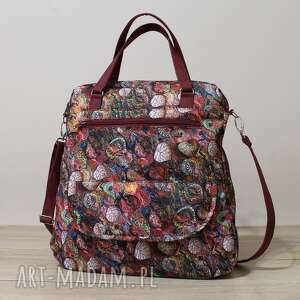 torebka listonoszka - jesienny melanż, elegancka, nowoczesna, pakowna, prezent