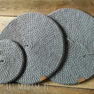 podkładki komplet 3 okrągłych podkładek, komplet, podkładki, okrągła