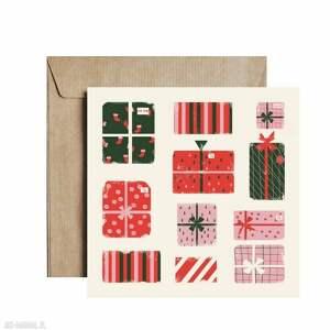 """Pomysł na świąteczny prezent. Kartka świąteczna """"gift&gift"""""""