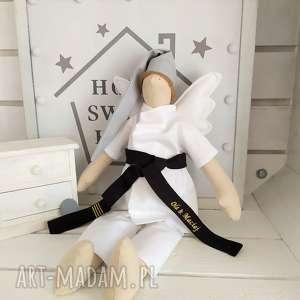 anioł tilda karateka personalizacja, anioł, tilda, pamiątka, prezent, karate