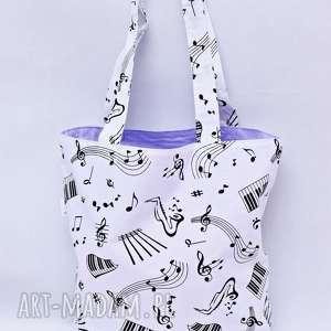 torba na zakupy ekologiczna shopperka muzyka nuty, torba, zakupy, duża