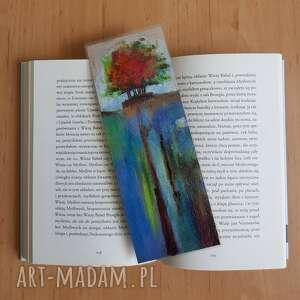 zakładka do książki-drzewo, zakładka, książki, drzewo, pastele