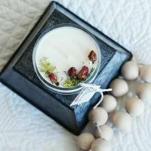 świeca sojowa w szkle no 5b, sojowa, aromatyzowana, na dzień