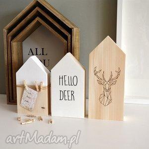 świąteczny prezent, 3 domki drewniane hello deer, domki, domek, drewniany, drewna