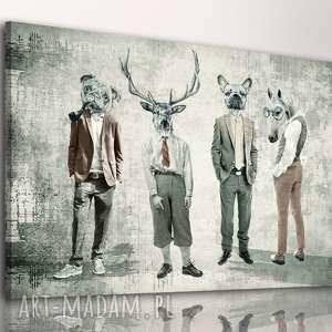Obraz na płótnie - chłopaki 02137 120x80 cm ludesign gallery