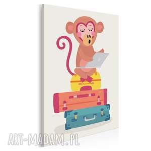 obraz na płótnie - dziecięcy zwierzę małpa 50x70 cm 80210