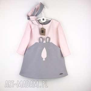 hand-made ubranka sukienka bunny z opaska