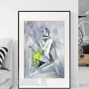 art krystyna siwek obraz ręcznie malowany 50 x 70 cm, nowoczesna abstrakcja