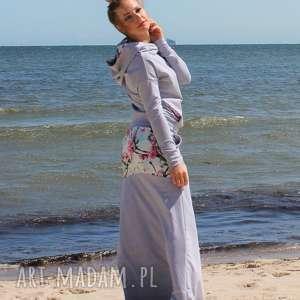 hand-made spódnice bluza z komino -kapturem i spódnica
