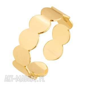 złoty pierścionek, uniwersalny, dopasowany elegancki, zaciskany