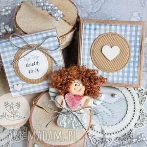 scrapbooking kartki anioł z intencją kartka oraz pudełeczko personalizowana