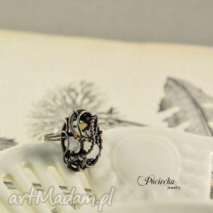 SURJA - PIERŚCIONEK, pierścionek, miedź, wirewrapping, romantyczny, delikatny